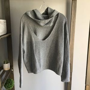 Forever21 Gray Cozy Cowl Neck Sweater